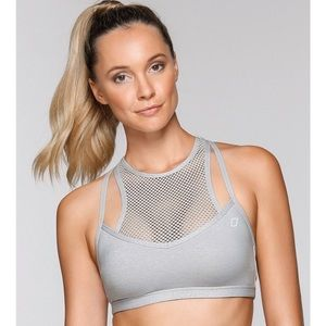 NWT Lorna Jane Grey Sports Bra XS